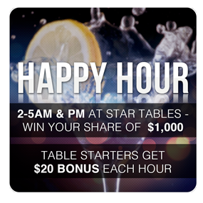 Happy Hour Promotion at RealGaming