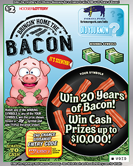 Indiana Bringin Home the Bacon Lottery Tickets