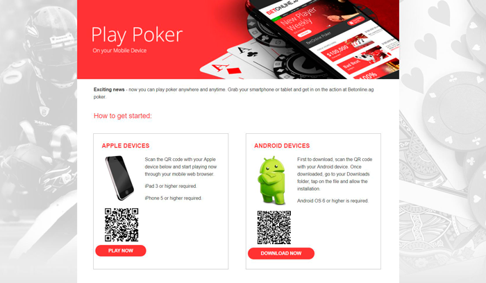 BetOnline Mobile Poker for US Players - Gamble Real Money Now