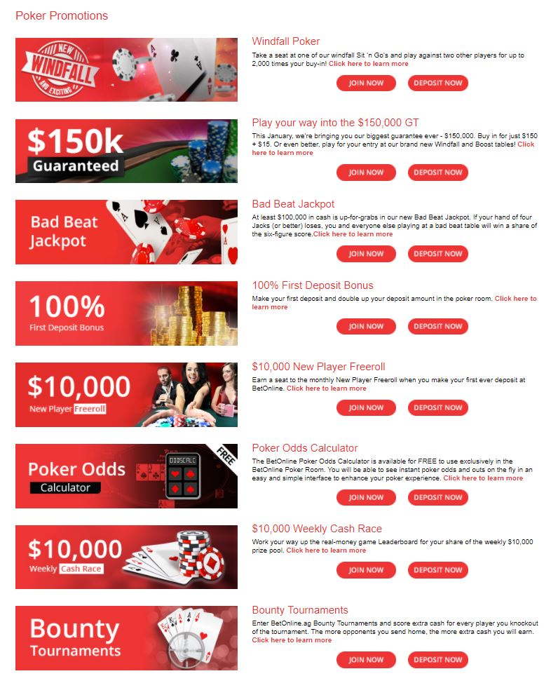 Poker Promotions